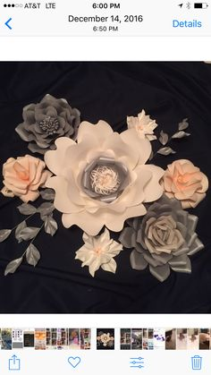 We will customize flowers for any occasions. Table arrangement, loose flowers for photo backdrop, full flower wall. Pink Grey, Blush Pink, Paper Art Design, Paper Flowers Wedding, Table Arrangements, Flower Wall, Backdrops, Birthdays, Anniversary