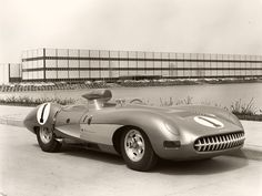 Sketchbook historic cars Pictures: 1957 USA - Chevrolet Corvette Prototype