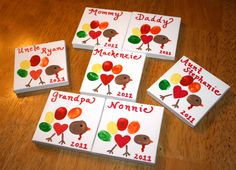 Thanksgiving fingerprint turkey on canvas. Perfect for place setting! Thanksgiving Placemats, Place Settings, Holiday Crafts, Coasters, Crafts For Kids, Finger, Turkey, Canvas, Fall
