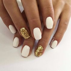 50 Ideas Holiday Nails Acrylic Squoval 50 Ideas Holiday Nails Acrylic Squoval Related posts:Love the accent nails! - Beautiful Short Square Nails for Your Fingers - Lily Fashion Schöne. Cute Acrylic Nails, Cute Nails, My Nails, Squoval Acrylic Nails, Nails Inc, Stiletto Nails, White Nails With Gold, Glitter Accent Nails, Gold Glitter