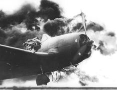 F6F-5 Hellcat fighter of US Navy pilot Ensign John G. Fraifogl caught on fire upon landing during USS Ticonderoga's shakedown cruise, Gulf of Paria, Trinidad, 1717 on 1 Jul 1944. Note the pilot jumping out of the cockpit. No info on what was his state of health.