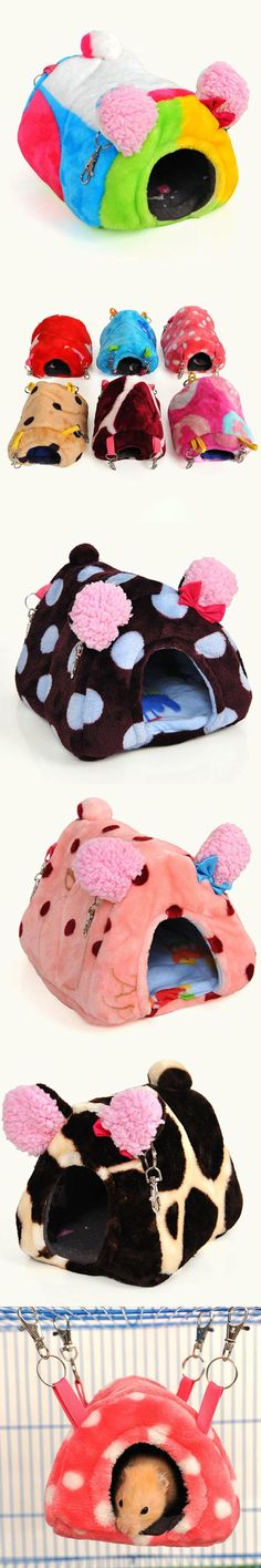 Pet Rabbit Hamster House Bed Cute Warm Small Animal Rat Squirrel Guinea Pig Hedgehog Hanging Cage Nest