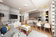 Warszawa - mieszkanie - Średni salon z kuchnią z jadalnią, styl skandynawski - zdjęcie od More IN