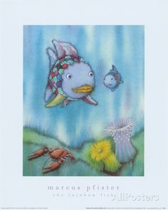 Rainbow Fish and the Little Blue Fish Art Print at AllPosters.com
