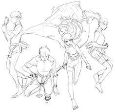 ~Sarada, Boruto, Himawari and Mitsuki: The New Generation! Anime Naruto, Sarada Uchiha Manga, Boruto And Sarada, Naruto Sasuke Sakura, Naruto Uzumaki, Shikadai, Drawing Reference Poses, Drawing Poses, Character Art