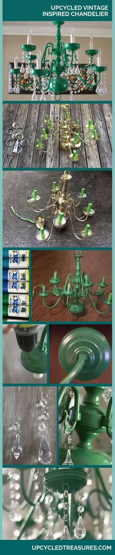 DIY Mason Jar Chandelier - Vintage Home Decor Ideas - DIY Lighting Ideas on A Budget