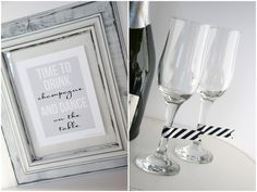 champagne glass tags!