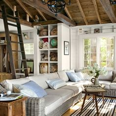 Sheri and Gerry Weber turned a dark and dinky 500-square-foot cabin into an airy retreat