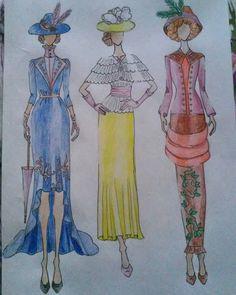 """#style #fashion #design #designer #fashiondesigner #student #studentasfashiondesigner #hungarian #illustration #fashionillustration #artnouveau…"""