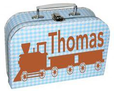 Koffertje met treintje en naam