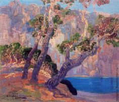 In 1909 a third great Catalan landscape painter arrived on the scene: Hermen Anglada Camarasa. Camarasa was already a successful artist. His iridescent nocturnal scenes of Belle Epoque Paris, expre. Spanish Painters, Spanish Artists, Freeform Crochet, Crochet Art, Textile Fiber Art, Textile Artists, Impressionist Art, Impressionism, Art Sur Toile