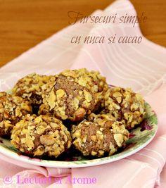 Fursecuri simple cu nuca si cacao - Lecturi si Arome Cacao Recipes, My Recipes, Cookie Recipes, Cacao Benefits, Jacque Pepin, Romanian Food, Christmas Sweets, Cupcake Cookies, Cravings