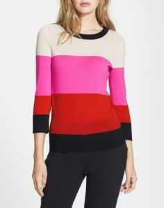 Colorblock sweater for work or play | Kate Spade