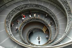 Staircase at the Vatican Museums   these were the eaziest stairs i ever had in my life11