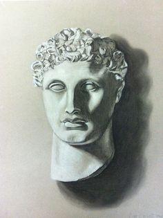 Plaster-Cast Statue Drawing ©Lisa Corvelli