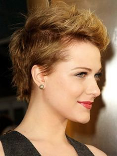 girl close cut hair color - Google Search