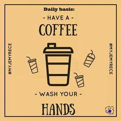 Do każdej kawy mycie rąk - koniecznie!  #myjemyrece #calapolskamyjerece