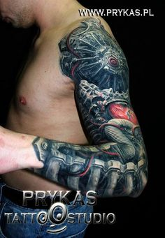 Biomechanical Tattoos, Designs And Ideas : Page 54