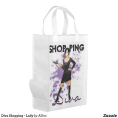 Diva Shopping - Lady Grocery Bag