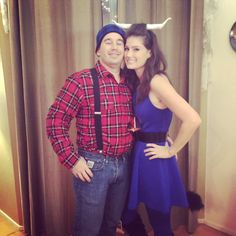 paul bunyan and babe the blue ox lumberjack costumelumberjack halloweencouple