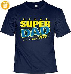 T-Shirt zum Geburtstag: Super Dad since 1977 - Tolle Geschenkidee - Baujahr 1977 - Farbe: navyblau (*Partner-Link)