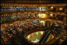 Absolutely awestruck - old movie theater turned into a bookstore... This is something out of a dream!