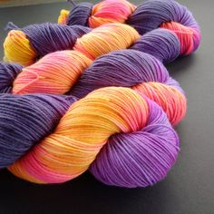 Merino Cashmere Nylon Sport Sock Yarn Hand Dyed by LogHouseCottage