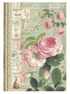 Decoupage Vintage, Vintage Paper, Rice Paper Decoupage, Decoupage Art, Paper Mulberry, Paper Art Projects, Fabric Journals, Paper Crafts Origami, Printable Paper