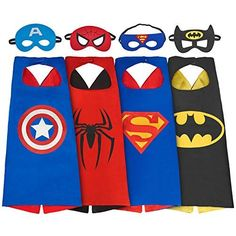 My-My Toys for Year Old Boys, Superhero Capes for Kids Year Old Boy Gifts Boys Cartoon Dress up Costumes Party Supplies 4 Pack Batman Costumes, Cartoon Costumes, Halloween Costumes, Barbie Costumes, Barbie Outfits, Costumes Kids, Capes For Kids, Mask For Kids, The Mask Costume
