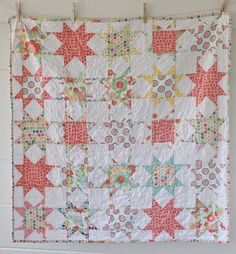 Beautiful hand made quilt for a baby girl, on Melanie Ham Designs.