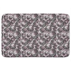 Add excitement to your bathroom decor with this stylish Retro Circles Bath Mat…