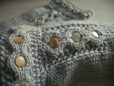 Antique button gloves