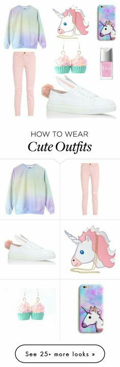 the perfect unicorn outfit Scene Outfits, Mode Outfits, School Outfits, Summer Outfits, Casual Outfits, Girl Outfits, Fashion Outfits, Winter Outfits, Polyvore Outfits