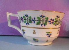 Early 19th Century Derby Porcelain Teacup Cornflower Patt. Circa 1805 in Pottery, Porcelain & Glass, Date-Lined Ceramics, Pre-c.1840 | eBay