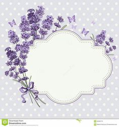 Cute vintage greeting or invitation card with hand drawn floral elements in engraving style - fragrant lavender. Diy And Crafts, Paper Crafts, Shabby Chic Wall Decor, Borders And Frames, Vintage Diy, Vintage Logos, Retro Logos, Vintage Typography, Free Vector Art