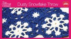 Dusty Snowflake Throw
