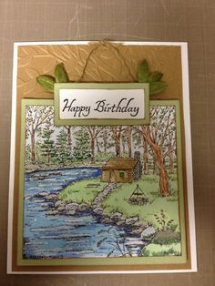 Northwoods Stamp, made by my friend Tina!