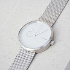 """silver wristwatch """"One""""(by Meshable, No Time For Me, Mesh, Watches, Silver, Accessories, Image, Wrist Watches, Wristwatches, Clocks"""