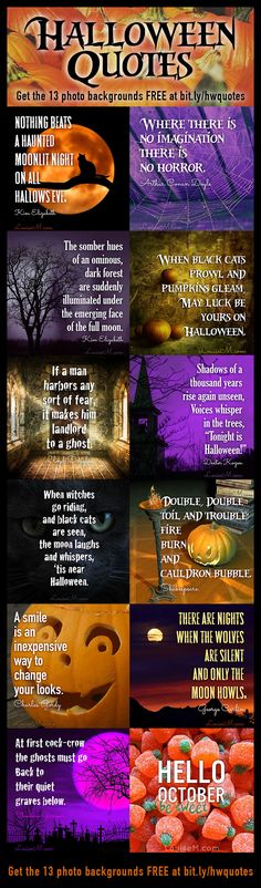 Need spooky Halloween quotes? Find 31 short quotes and 13 simple Halloween photos to download FREE - perfect for picture quotes! Plus links to instructions and fonts.