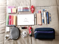 totallynerdstuff:  what's in my school bag part 1