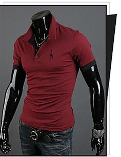martin mannen mode-Koreaanse borduurwerk slanke korte mouwen t-shirt
