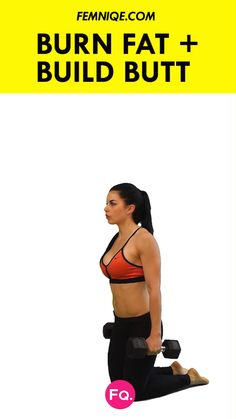 10 Minute Lose Belly Fat + Build Bigger Glutes Workout: For this exercises you can use 20 pound dumbbells for added resistance. This will intensify your workout = burning calories while working the gluteal muscles. Fitness Workouts, 7 Workout, Sport Fitness, Dumbbell Workout, At Home Workouts, Fitness Motivation, Health Fitness, Fitness Hacks, Health Diet