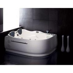 "71"" x 48"" - EAGO+AM124-R+71""+Double+Corner+Acrylic+White+Jetteed+Whirlpool+Tub"