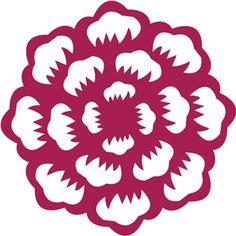 Silhouette Online Store - View Design #15390: floral cutout