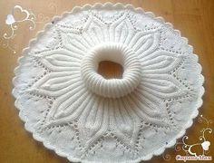 Baby Hat Knitting Pattern, Crochet Vest Pattern, Crochet Lace Edging, Crochet Flower Patterns, Doily Patterns, Knit Or Crochet, Lace Knitting, Knitting Stitches, Knitting Patterns Free