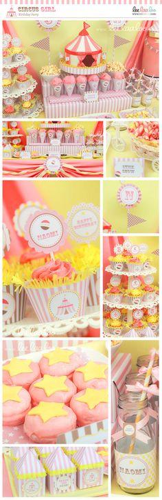 Circus Girl Birthday Party Invitation - PERSONALIZED PRINTABLE DIY