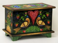 Small Trunk w/Fruit & Birds by Rosemary West