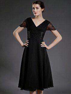 ELETTRA - kjole til brudens mor i chiffon - DKK kr604.00