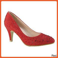 ANNA BECKHAM-10 Women Glittered Fashion Stiletto Pointed Toe Heel 5ec5a651b6ac