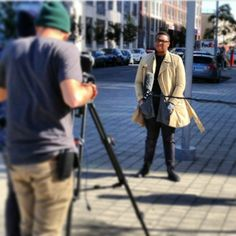Bernard of LookBookNYC with Fashion Entrepreneur/ Blogger Justin Bridges of Tucked Style